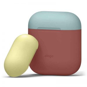 Elago AirPods DUO Case Body Italian Rose Blue-Yall_alpha store Kuwait