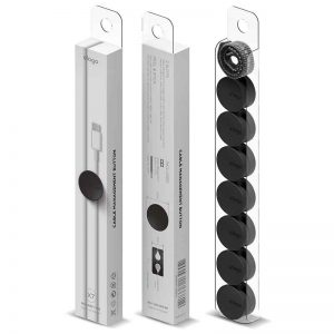 Elago Cable Management Button With Cable tie (7pcs) / Black_alpha Store Online Shopping Kuwait