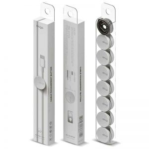 Elago Cable Management Button with cable tie (7pcs) / White_alpha Store Online Shopping Kuwait