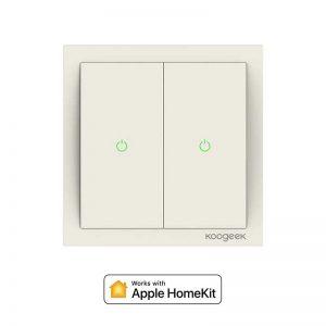 Koogeek Two Gang Wi-Fi Smart Light Switch_alpha store Kuwait Online Shopping