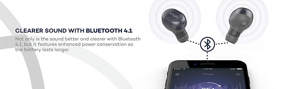 VAVA Bluetooth 4.1 True Wireless Earbuds