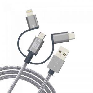 Juku Charge&SYNC 3in1 cable ( micro-light-c) 1.2M