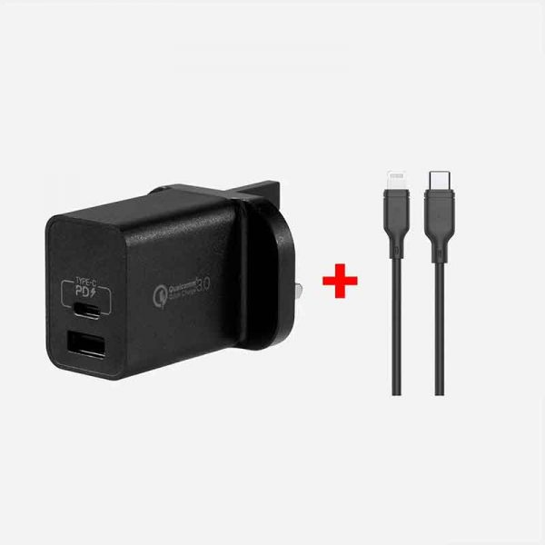 Momax Ready to Go Adapter QC3.0+PD 18W (Black)