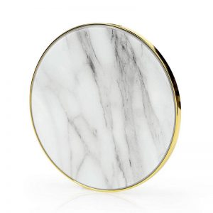 Gaze Marble Pad Wireless Charger - White