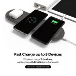 Gaze triple pad classic wireless charger – Brown_3