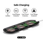 Gaze triple pad classic wireless charger – Brown_4
