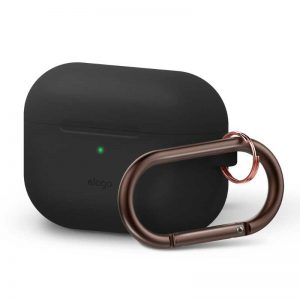 Elago AirPods Pro Slim Hang Case - Black_1_alpha store online shopping in kuwait