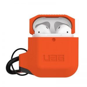 UAG Apple AirPods Silicone Case- Orange:Grey_1_alpha store Online Shopping in kuwait
