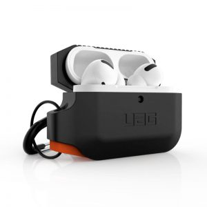 UAG Apple Airpods Pro Silicone Case - Black:Orange_1_alpha store online shopping in kuwait