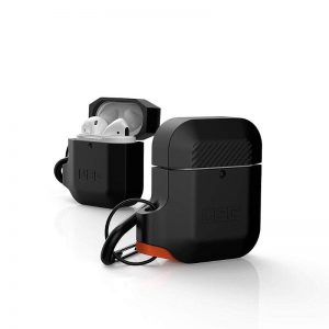 UAG Apple Airpods Silicone Case- Black:Orange_2_alpha store Online Shopping in kuwait