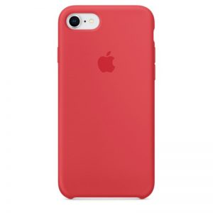 iPhone 8 : 7 Silicone Case - Red Raspberry_alpha store kuwait