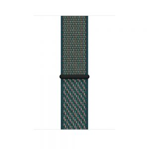 44mm Nike Sport Loop, Color: Hyper Crimson/Neptune Green