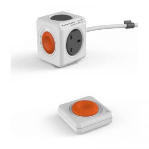 PowerCube Extended Remote SET UK 4X PLUG +2USB WH