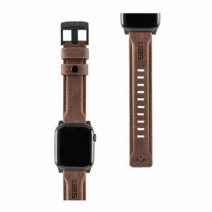 "UAG Apple Watch 40""/38"" Leather Strap- Brown_alphastore_kuwait"