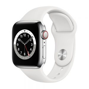 Apple_Watch_Series_6_Cellular_40mm_Silver_Stainless_Steel_White_Sport_Band_34R_Screen__USEN