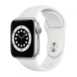 Apple_Watch_Series_6_GPS_40mm_Silver_Aluminum_White_Sport_Band_34R_Screen__USEN